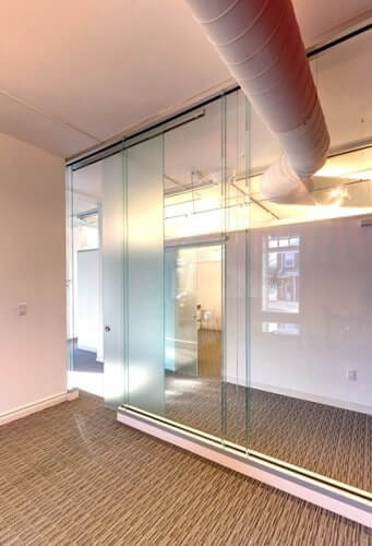 unikglass lightly frosted glass door