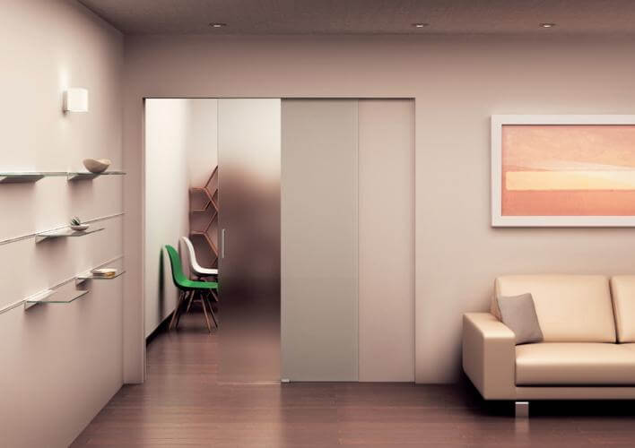 Single Pocket Doors Glass pocket glass - frameless glass sliding doors | klein usa