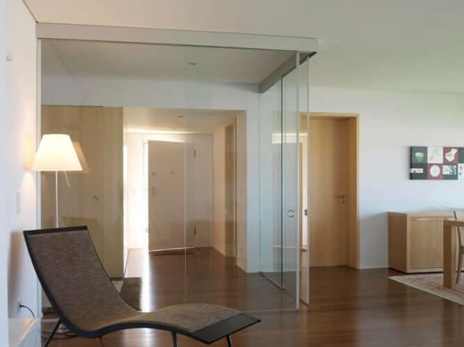 rolmatic corner glass sliding doors