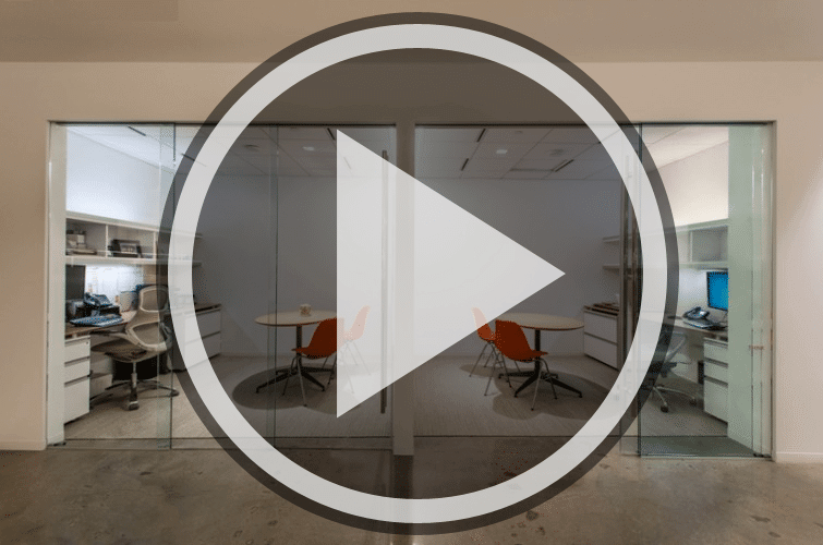 EXTENDO Telescopic Glass Office Doors Video