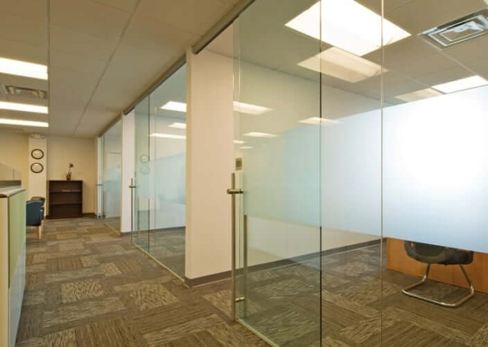 Rollglass commercial glass walls klein usa for Commercial interior sliding glass doors