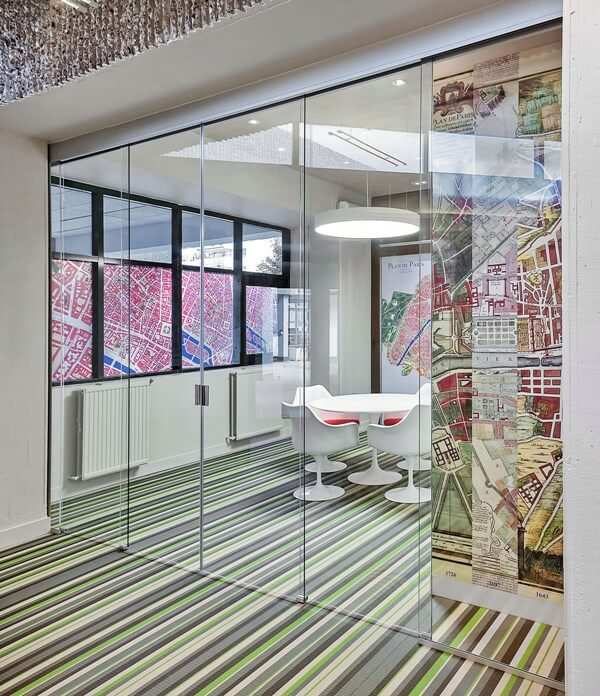 EXTENDO Telescopic Glass Office Doors