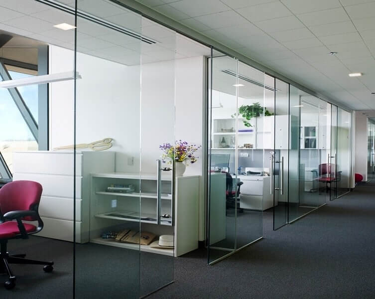 Interior Sliding Glass Doors use interior sliding glass doors to spread light in your office -