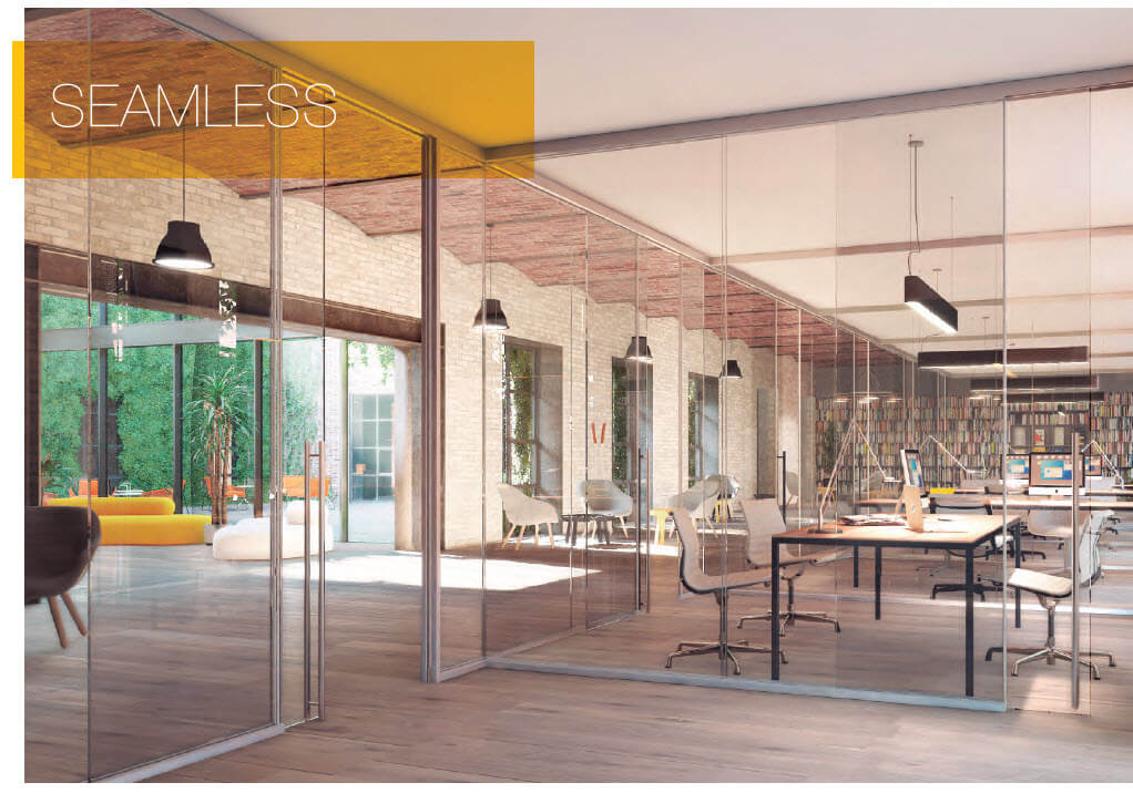 Klein 39 s panoramic frameless glass wall systems for Glass walls and doors