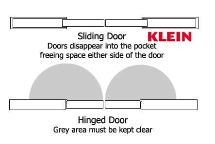 Image showing sliding glass doors versus swing doors