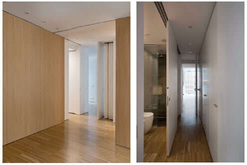 Image Of Slid Interior Sliding Door Panels