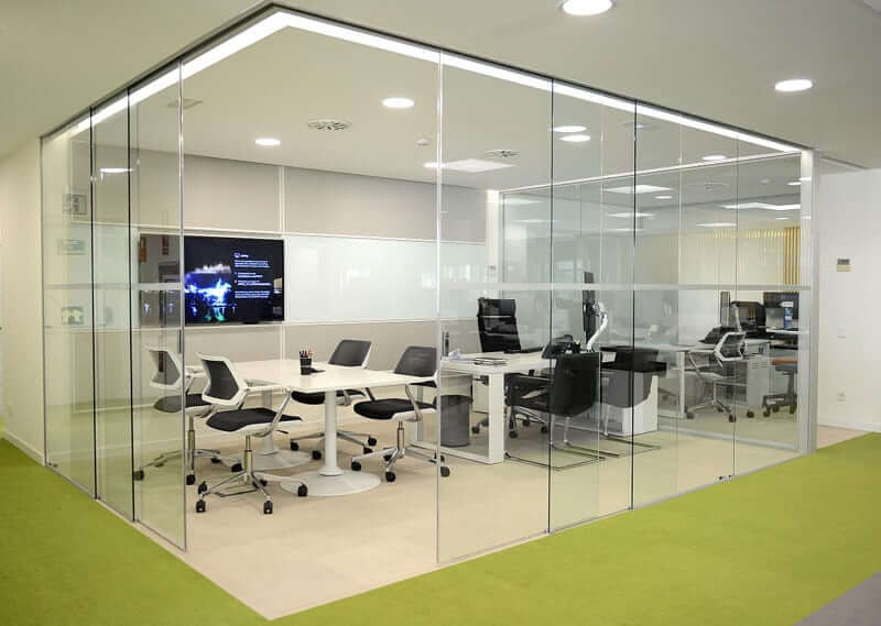 Image of Extendo Corner Recessed Glass Partitions