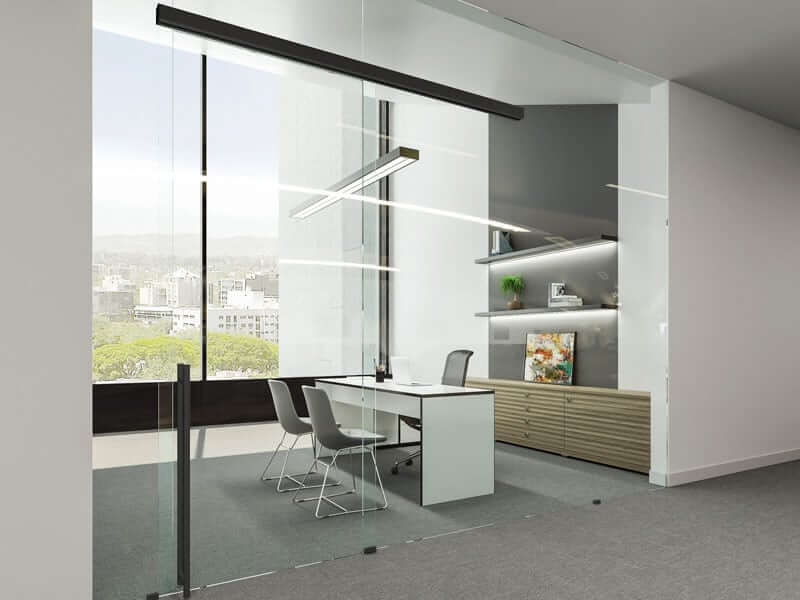 Image of Unikglass+ Air Black Glass Partitions