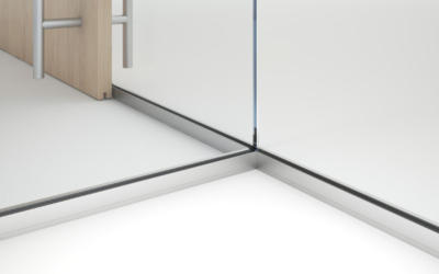 Lignea Interior Glass Wall Systems Bottom Track