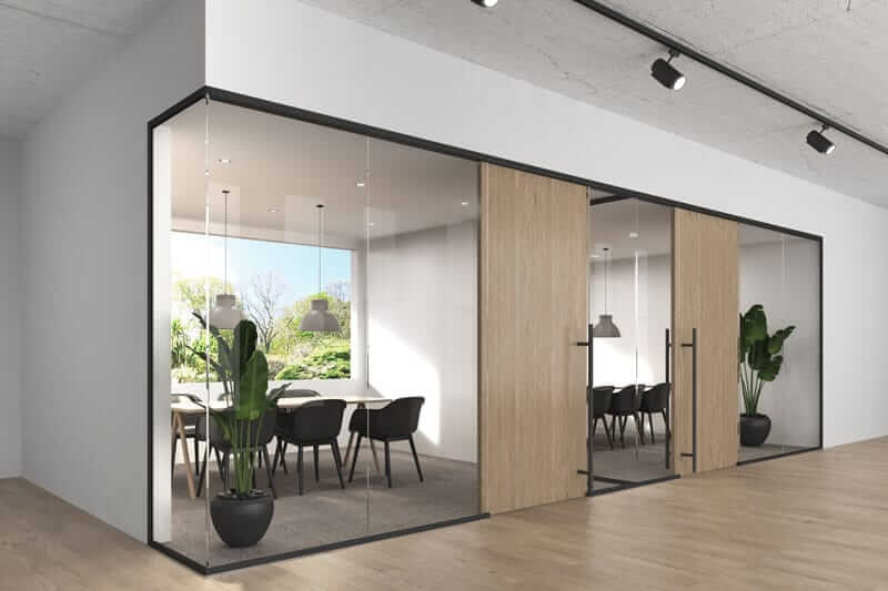 Lignea Interior Glass Wall Systems Black