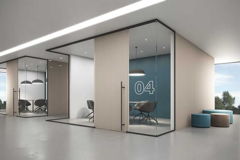 Interior Glass Wall Systems Lignea By Klein Usa