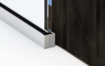 Lignea Interior Glass Walls Bottom Track Silver Black