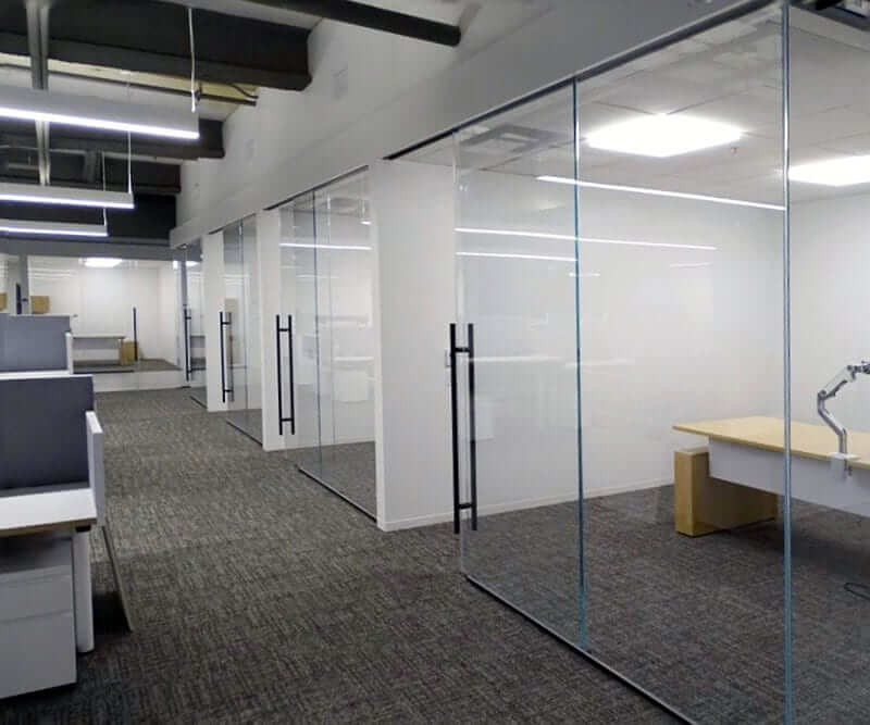 Klein Rollglass+ Office Glass Doors Quest Nutrition Installation