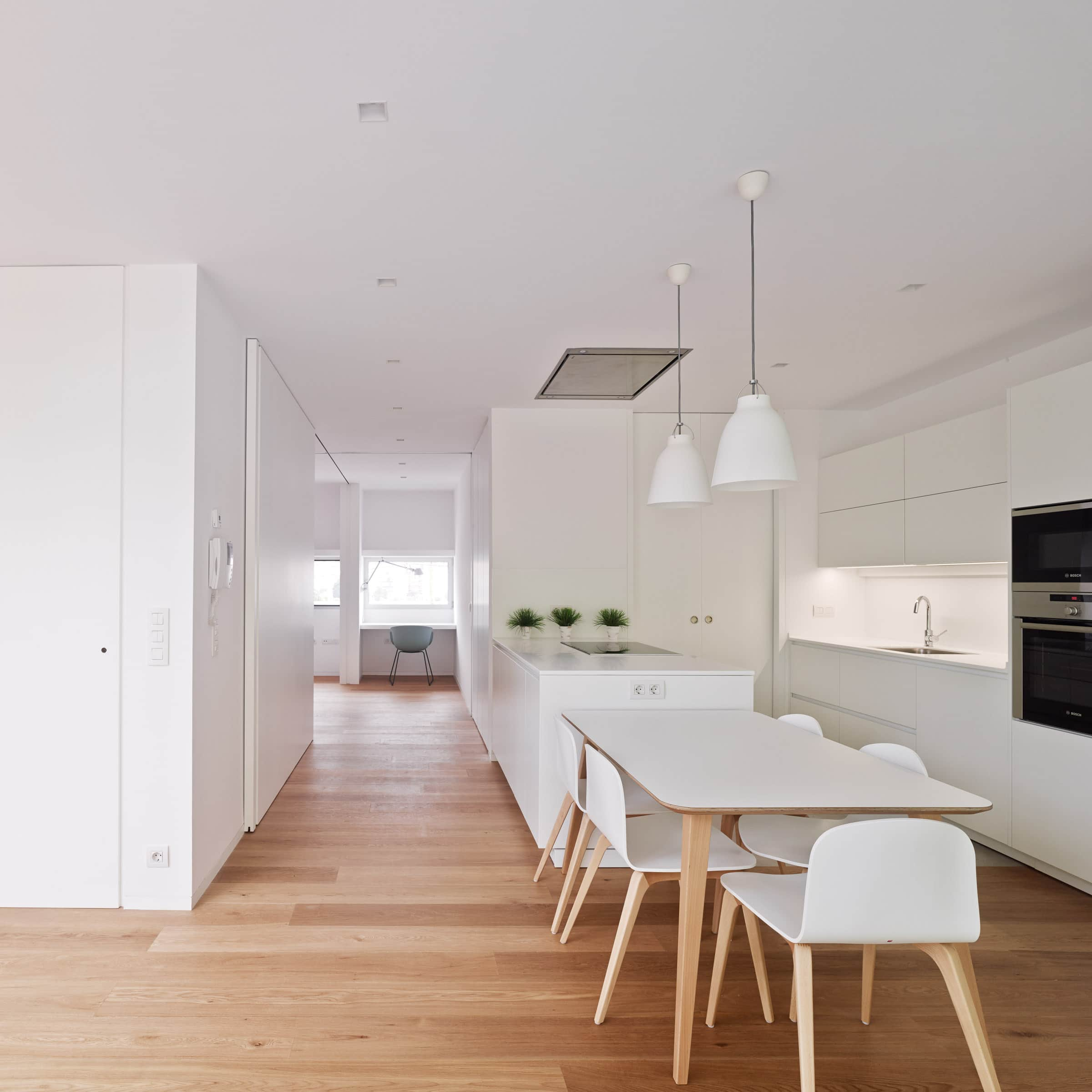 Kitchen with Sliding Wall Panels