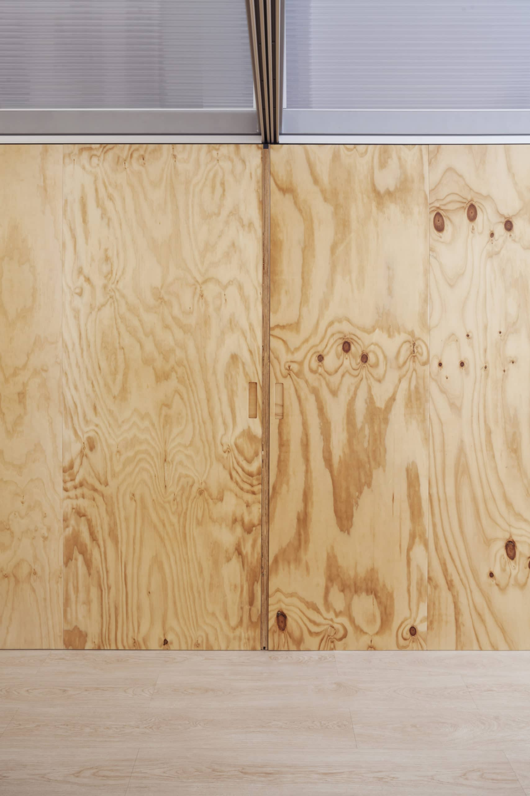Wooden panels for AZA clinic