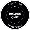 Tested Over 100,000 Cycles